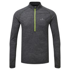 Ron Hill Men's Merino 200 HZ | Grey Marl / Fluo Yellow
