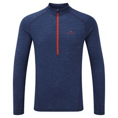 Ron Hill Men's Infinity Merino HZ | Midnight Blue / Lava