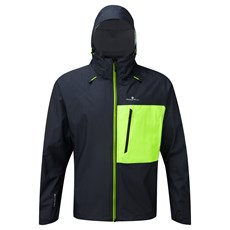 Ron Hill Men's Infinity Torrent Jacket | Charcoal / Fluo Yellow