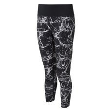 Ron Hill Women's Momentum Crop Tight | Black Marble