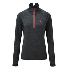 Ron Hill Women's Stride Thermal LS | Charcoal Marl / Hot Pink