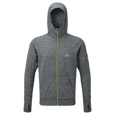 Ron Hilll Men's Podium Hoodie | Grey Marl / Fluo Yellow