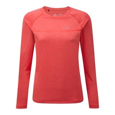 Ron Hill Women's Everyday LS Tee | Hot Pink Marl