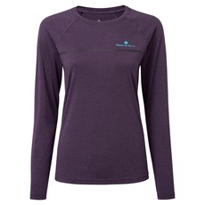 Ron Hill Women's Everyday LS Tee | Blackberry Marl