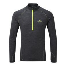 Ron Hill Men's Stride Thermal HZ | Charcoal Marl / Fluo Yellow