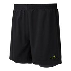 Ron Hill Men's Stride Twin Short | Black / Fluo Yellow