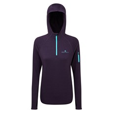 Ron Hill Women's Momentum Hoodie | Blackberry Marl / Aquamint
