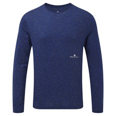 Ron Hill Men's Momentum Afterlight LS Tee | Midnight Blue