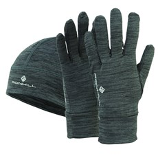 Ron Hill Beanie & Glove Set | Charcoal Marl