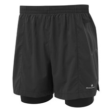Ron Hill Men's Marathon Twin Short | Black