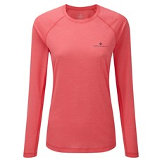 Ron Hill Women's Momentum LS Tee | Hot Pink Marl / Charcoal