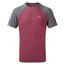 Ron Hill Men's Momentum SS Tee | Mulberry / Grey Marl
