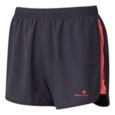 Ron Hill Women's Momentum Glide Short | Charcoal / Hot Pink