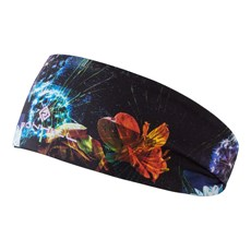 Ron Hill Reversible Headband | Black / Space Floral