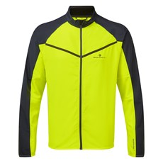 Ron Hill Men's Stride Windspeed Jacket | Fluo Yellow / Charcoal