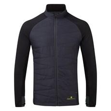 Ron Hill Men's Stride Hybrid Jacket   Charcoal / Black