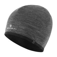 Ron Hill Reversible Merino Hat | Grey Marl / Black
