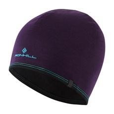 Ron Hill Reversible Merino Hat | Blackberry / Aquamint