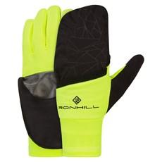 Ron Hill Wind Block Flip Glove | Black / Fluo Yellow