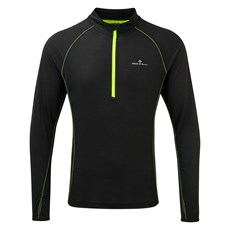 Ron Hill Men's Infinity Merino HZ | Black / Fluo Yellow