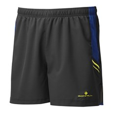 Ron Hill Men's Stride Cargo Short | Black / Acid