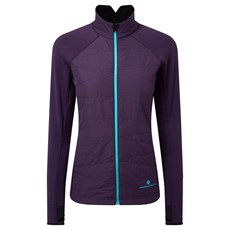 Ron Hill Women's Stride Hybrid Jacket | Blackberry / Aquamint