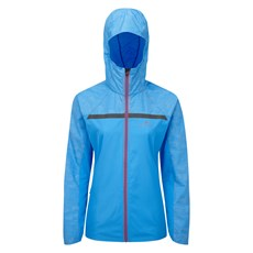 Ron Hill Women's Momentum Afterlight Jacket | Sky Blue / Cherryade