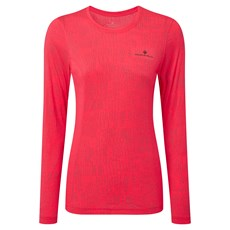 Ron Hill Women's Momentum Afterlight LS Tee | Hot Pink / Reflect