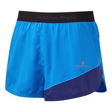 Ron Hill Men's Stride Revive Racer Short | Electric Blue / Midnight Blue