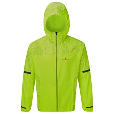 Ron Hill Mens Life Night Runner Jacket | Fluo Yellow / Flame