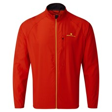 Ron Hill Mens Core Jacket | Flame / Fluo Yellow