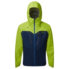 Ron Hill Mens Tech Fortify Jacket | Deep Navy / Citrus