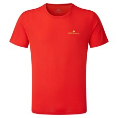 Ron Hill Mens Core SS Tee | Flame / Fluo Yellow