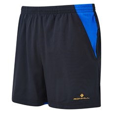 Ron Hill Men's Stride Cargo Short | Black / Electric Blue