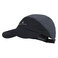 Ron Hill Air Lite Cap | Black / Charcoal
