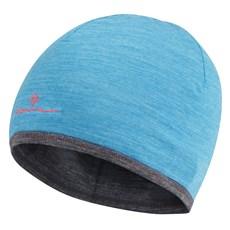 Ron Hill Unisex Merino Hat | Deep Cyan / Grey Marl