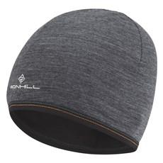 Ron Hill Unisex Merino Hat | Grey Marl / Black