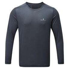 Ron Hill Men's Stride LS Crew | Charcoal / Electric Blue