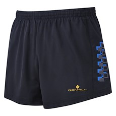 Ron Hill Men's Stride Cargo Racer Short | Black / Electric Blue