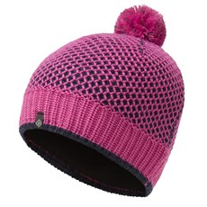 Ron Hill Bobble Hat | Deep Navy / Azalea