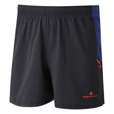 Ron Hill Men's Stride Cargo Short | Black / Flame