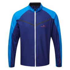 Ron Hill Men's Stride Windspeed Jacket | Midnight Blue / Electric Blue