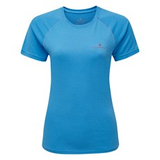 Ron Hill Women's Everyday SS Tee | Sky Blue Marl / Cherry