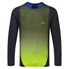 Ron Hill Men's Advance LS Crew | Black / Fluo Yellow