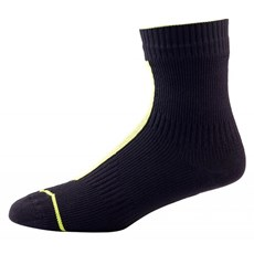Sealskinz Run Thin Ankle Sock | Black / High Vis Yellow