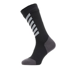 Sealskinz All Weather Mid Sock | Black / Grey