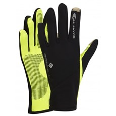 Ron Hill Unisex Sirocco Glove | Black / Fluo Yellow