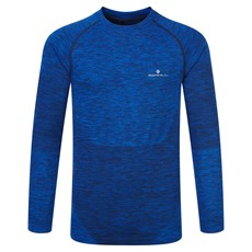 Ron Hill Men's Space Dye LS | Cobalt / Black Marl