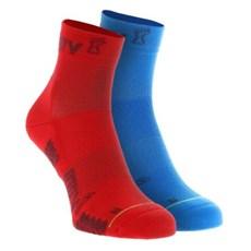 Inov-8 Trailfly Mid Sock (2 Pack) | Blue / Red