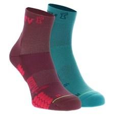 Inov-8 Trailfly Mid Sock (2 Pack) | Teal / Purple